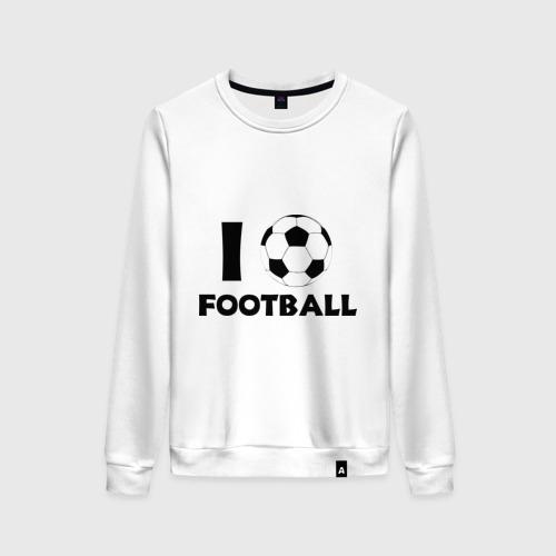 Женский свитшот хлопок I love football
