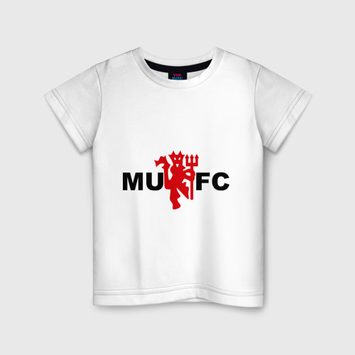 Детская футболка хлопок Манчестер Юнайтед (manchester united)