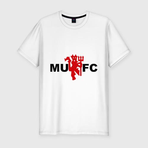 Мужская футболка хлопок Slim Манчестер Юнайтед (manchester united)
