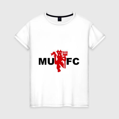 Женская футболка хлопок Манчестер Юнайтед (manchester united)