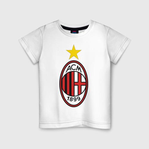 Детская футболка хлопок Italian Serie A. AC Milan