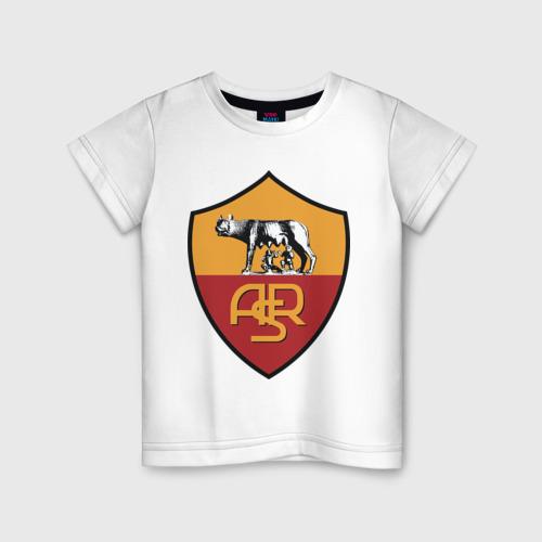 Детская футболка хлопок Italian Serie A. AS Roma