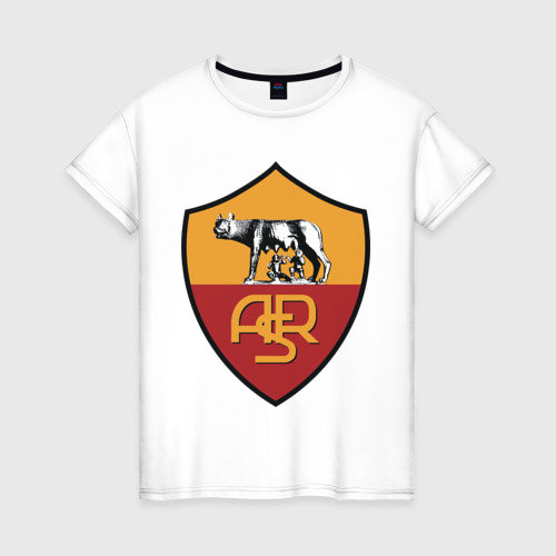 Женская футболка хлопок Italian Serie A. AS Roma