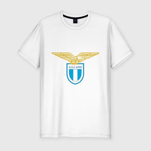 Мужская футболка хлопок Slim Italian Serie A. SS Lazio Roma