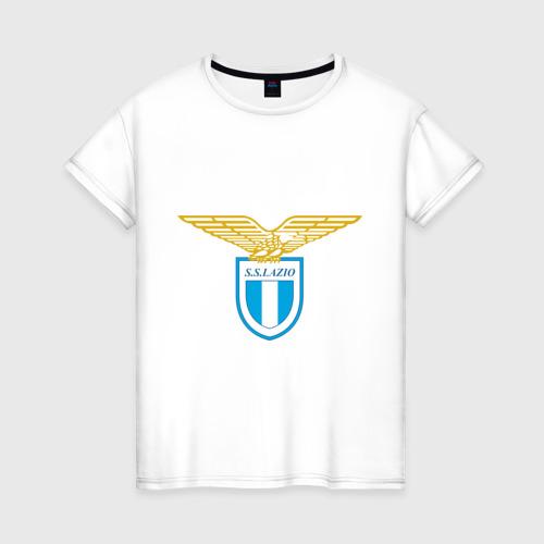 Женская футболка хлопок Italian Serie A. SS Lazio Roma