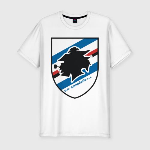 Мужская футболка хлопок Slim Italian Serie A. UC Sampdoria
