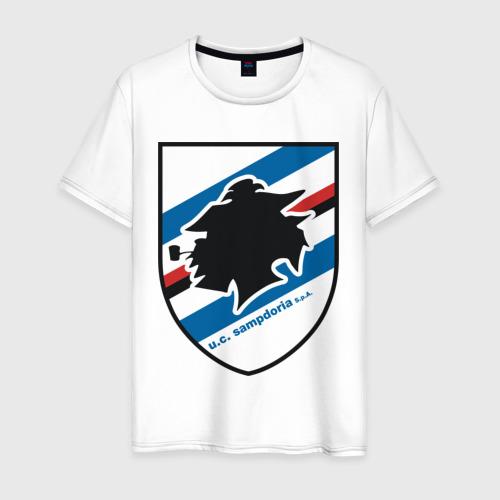 Мужская футболка хлопок Italian Serie A. UC Sampdoria