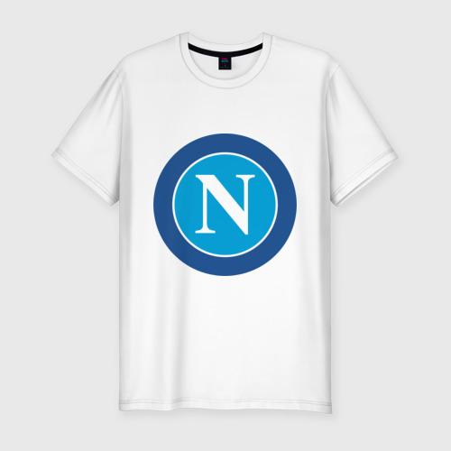 Мужская футболка хлопок Slim Italian Serie A. SSC Napoli