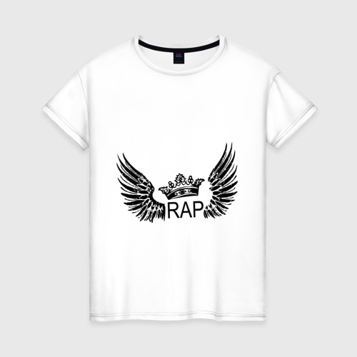 Женская футболка хлопок Rap (5)