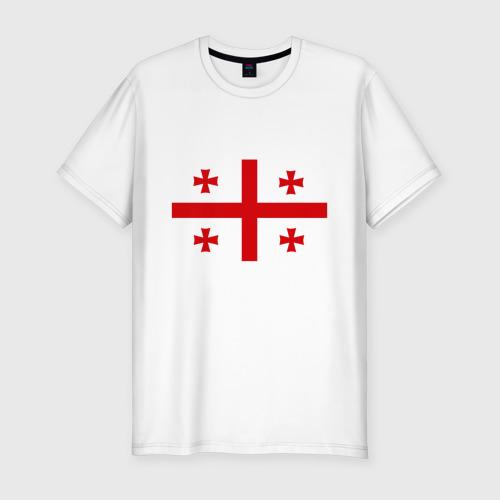 Мужская футболка хлопок Slim Грузия