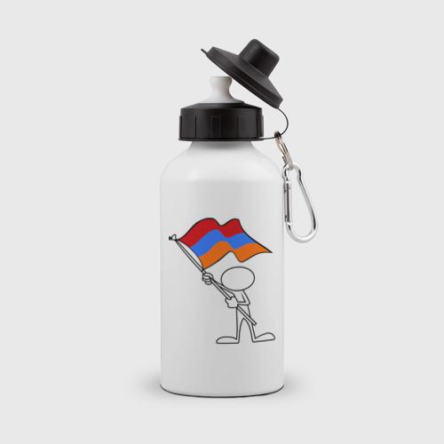 Бутылка спортивная Армения (человек с флагом)