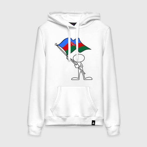 Женская толстовка хлопок Waving flag - Azerbaijan