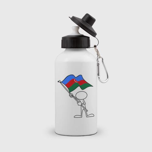 Бутылка спортивная Waving flag - Azerbaijan