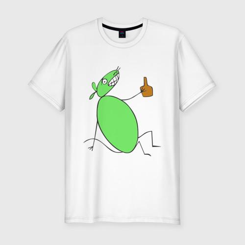 Мужская футболка хлопок Slim Полуторалитровая мышь
