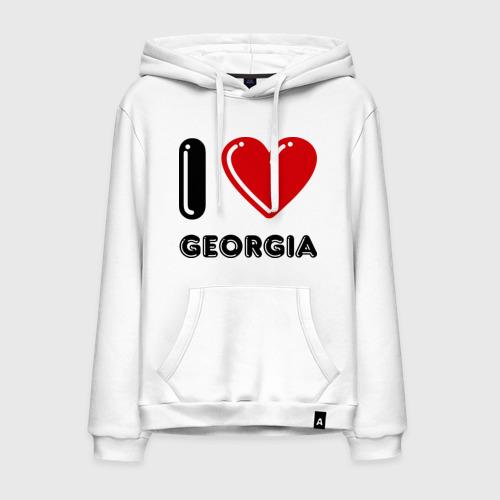 Мужская толстовка хлопок I love Georgia