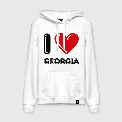 Женская толстовка хлопок I love Georgia