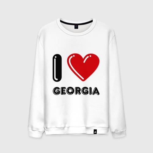 Мужской свитшот хлопок I love Georgia