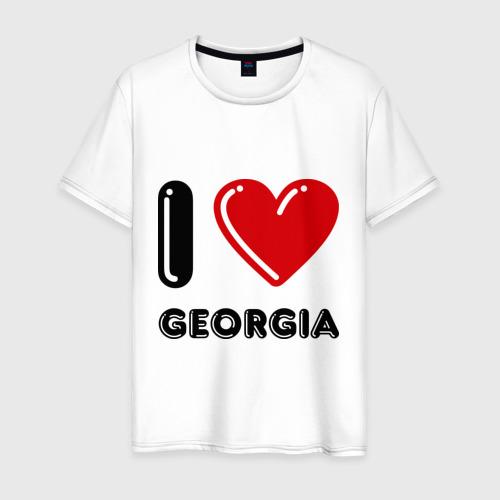 Мужская футболка хлопок I love Georgia