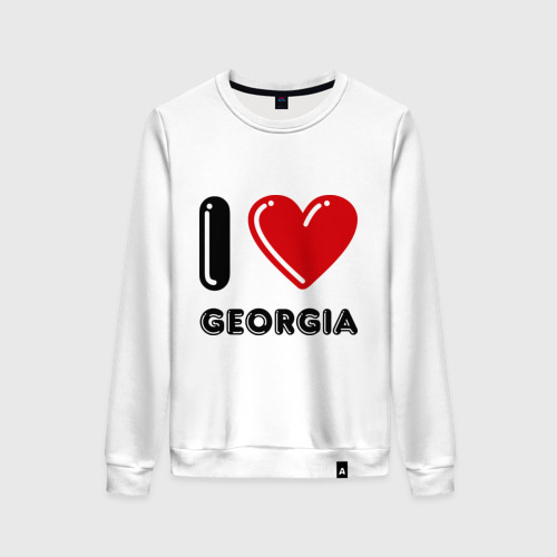 Женский свитшот хлопок I love Georgia