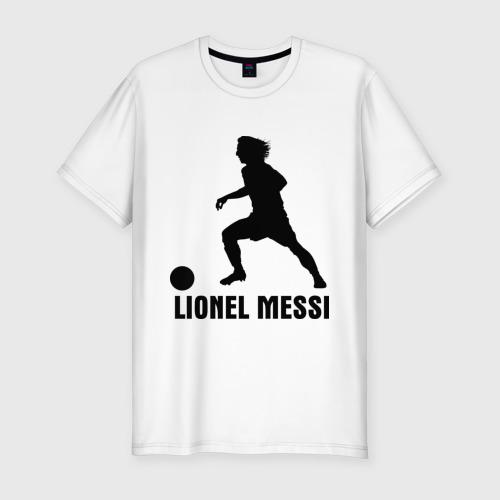 Мужская футболка хлопок Slim Lionel Messi