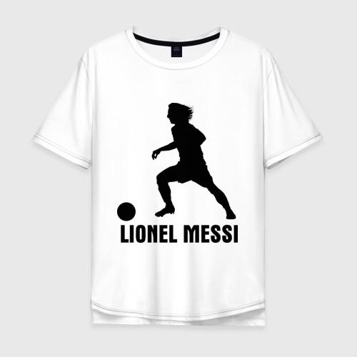 Мужская футболка хлопок Oversize Lionel Messi