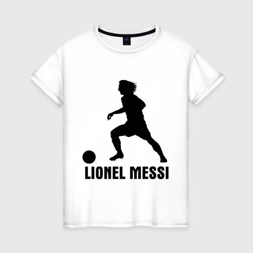 Женская футболка хлопок Lionel Messi