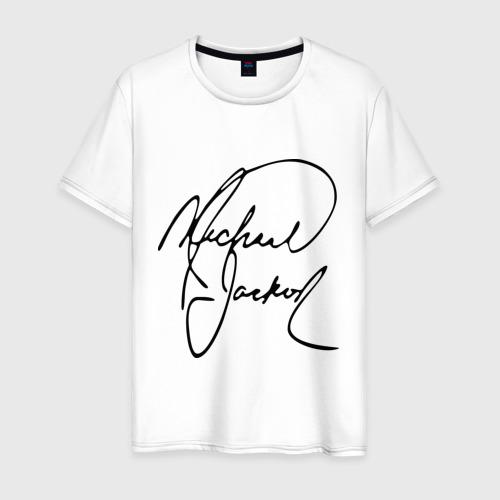 Мужская футболка хлопок Michael Jackson (автограф)