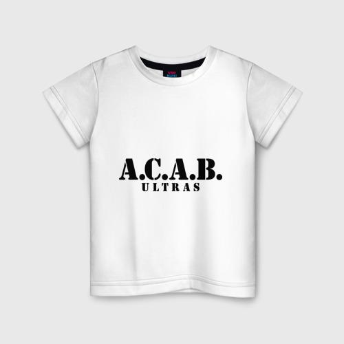 Детская футболка хлопок A.C.A.B. Ultras