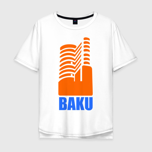 Мужская футболка хлопок Oversize Баку