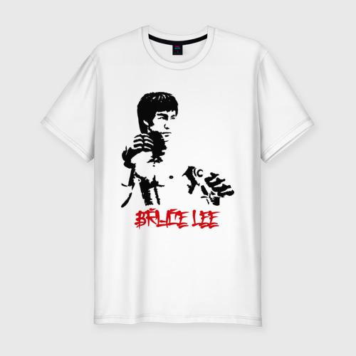 Мужская футболка хлопок Slim Брюс ли (5)