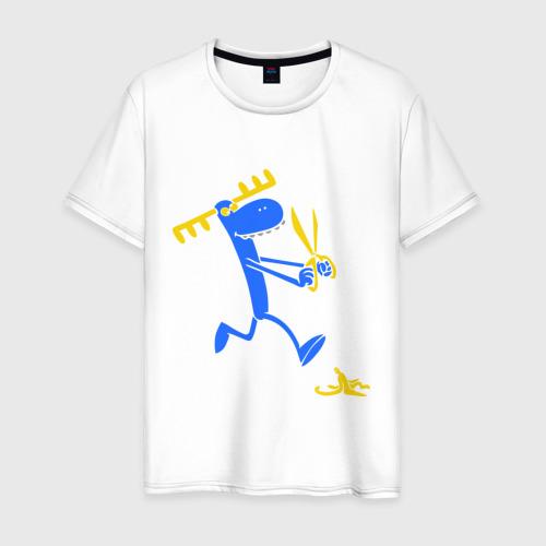 Мужская футболка хлопок Смешной олень