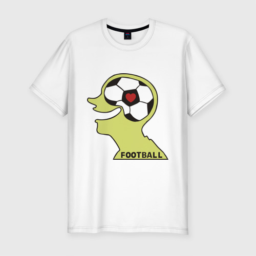 Мужская футболка хлопок Slim Я люблю футбол (2)