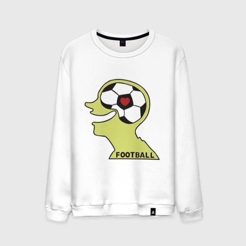 Мужской свитшот хлопок Я люблю футбол (2)
