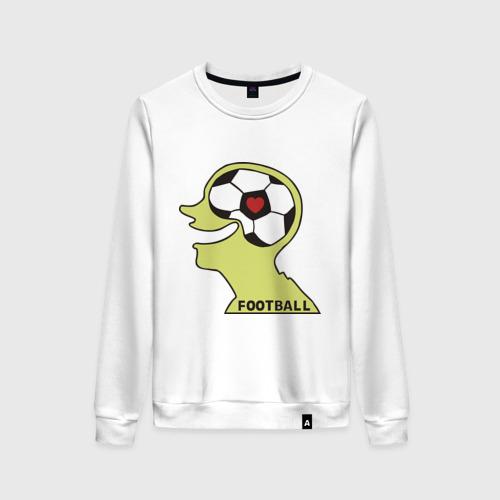 Женский свитшот хлопок Я люблю футбол (2)