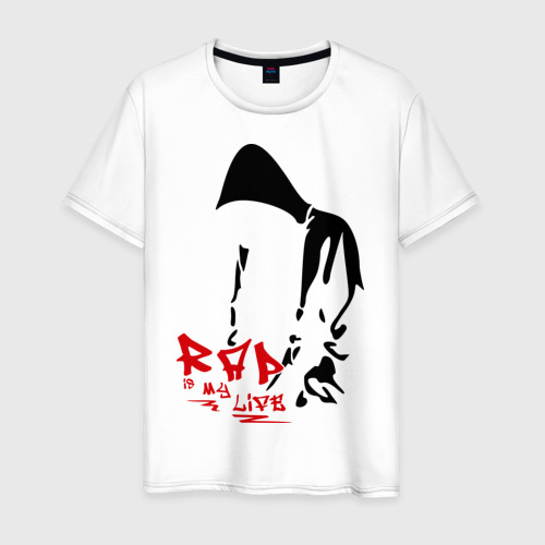 Мужская футболка хлопок Rap is my life