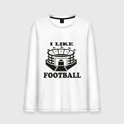 Мужской лонгслив хлопок I like football