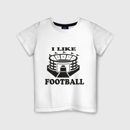 Детская футболка хлопок I like football