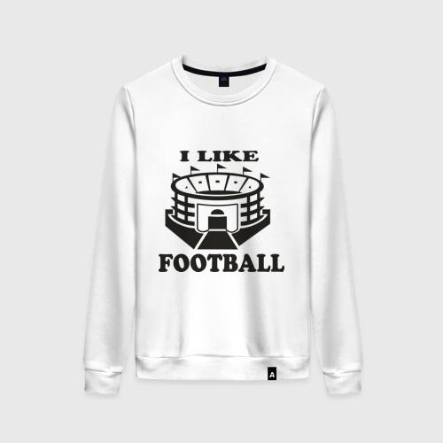 Женский свитшот хлопок I like football