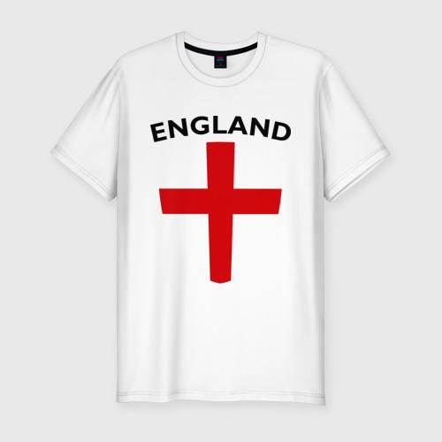 Мужская футболка хлопок Slim England - Англия