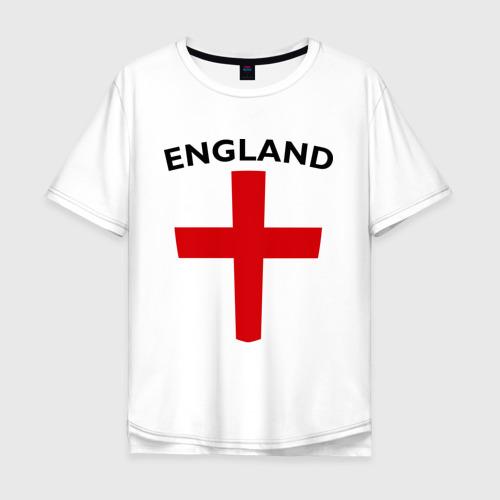 Мужская футболка хлопок Oversize England - Англия