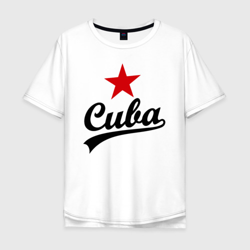 Мужская футболка хлопок Oversize Куба - Cuba
