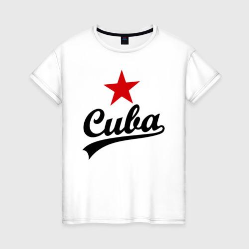 Женская футболка хлопок Куба - Cuba
