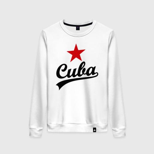 Женский свитшот хлопок Куба - Cuba