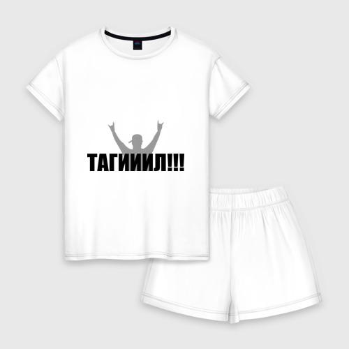 Женская пижама с шортиками хлопок Тагил