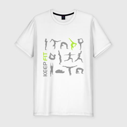 Мужская футболка хлопок Slim Keep fit fitness