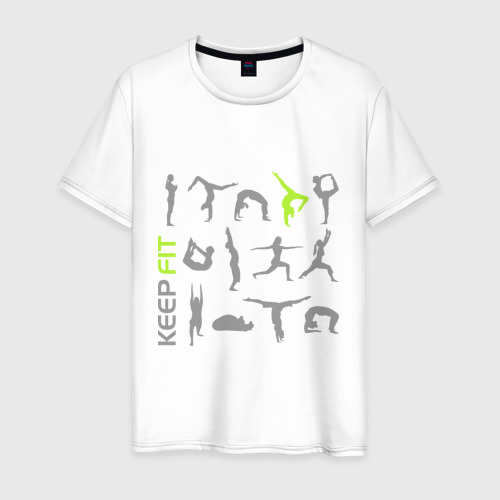 Мужская футболка хлопок Keep fit fitness