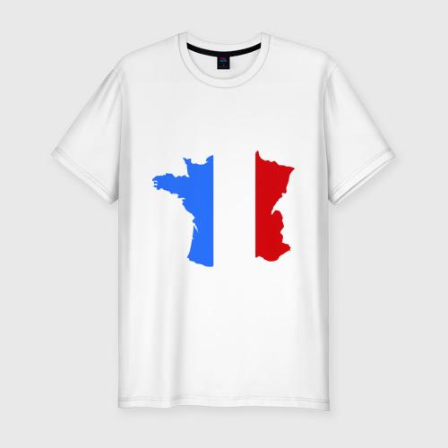 Мужская футболка хлопок Slim Франция (France)