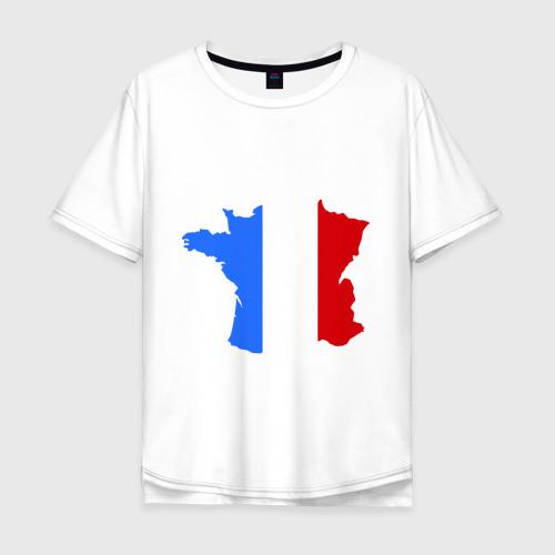 Мужская футболка хлопок Oversize Франция (France)