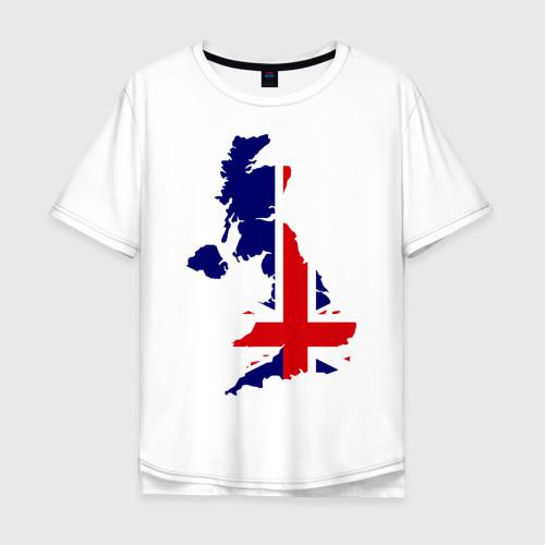 Мужская футболка хлопок Oversize Великобритания (Great Britain)