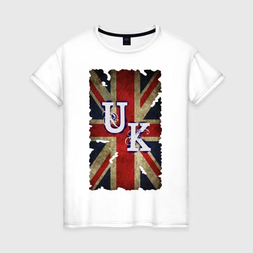 Женская футболка хлопок United Kingdom